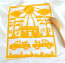 New Mexico scene dish towel