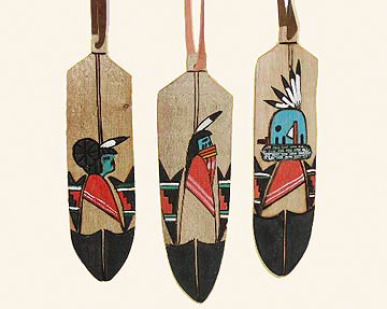 Wooden Feather Ornaments